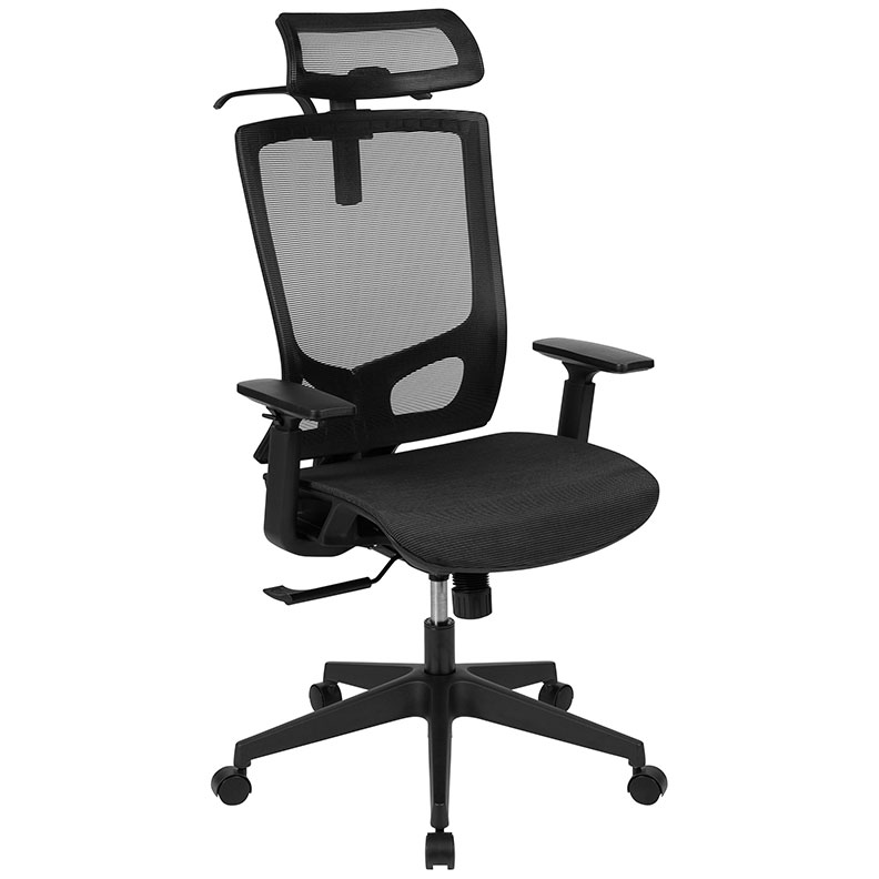 Houston High Back Black Mesh Executive Modern Office Chair