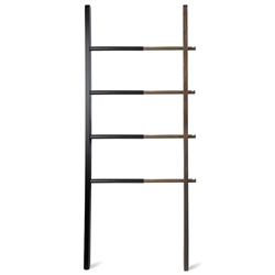 Umbra Hub Black + Walnut Modern Ladder Shelf