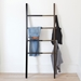 Umbra Hub Black + Walnut Contemporary Ladder Organizer