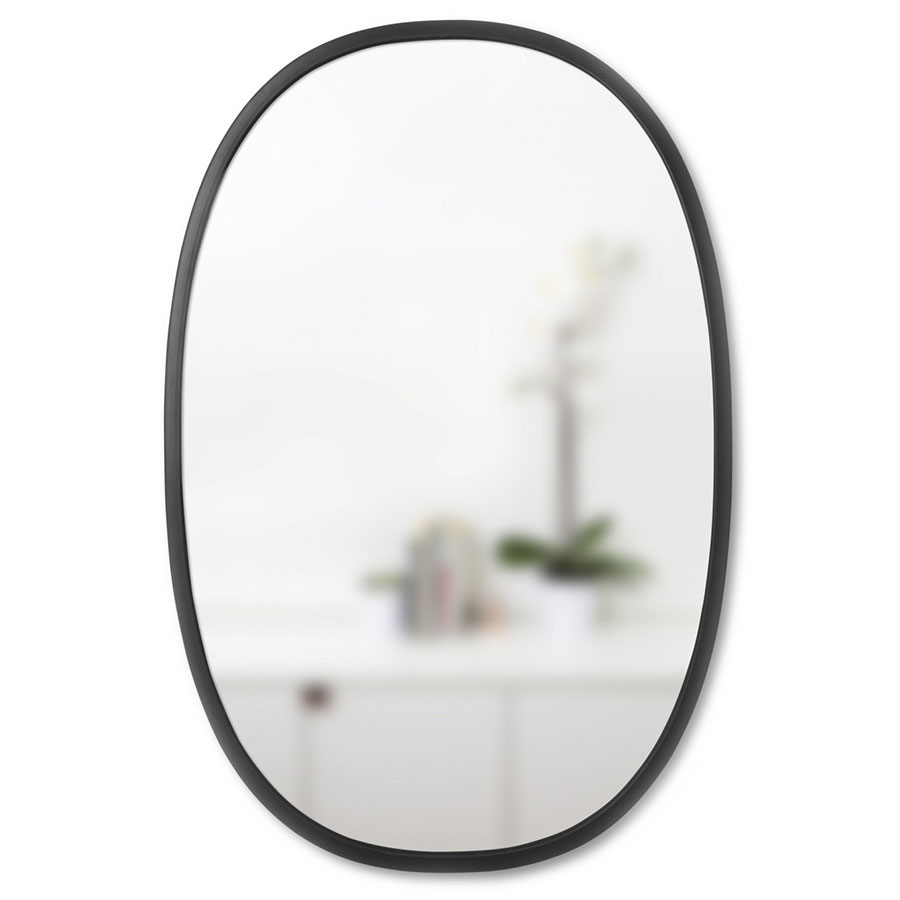 Hub Oval Contemporary Wall Mirror by Umbra