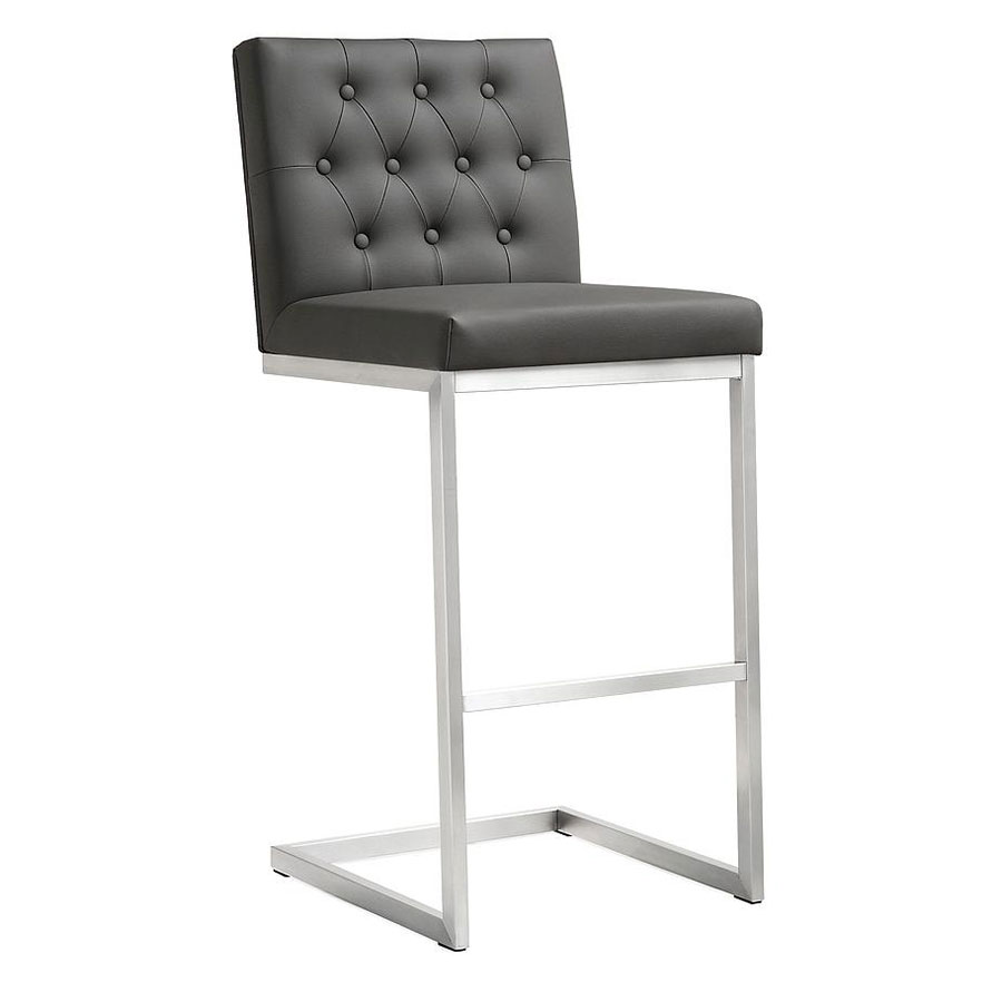 Hungary Modern Gray Bar Height Stool