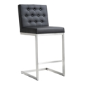 Hungary Modern Black Counter Height Stool