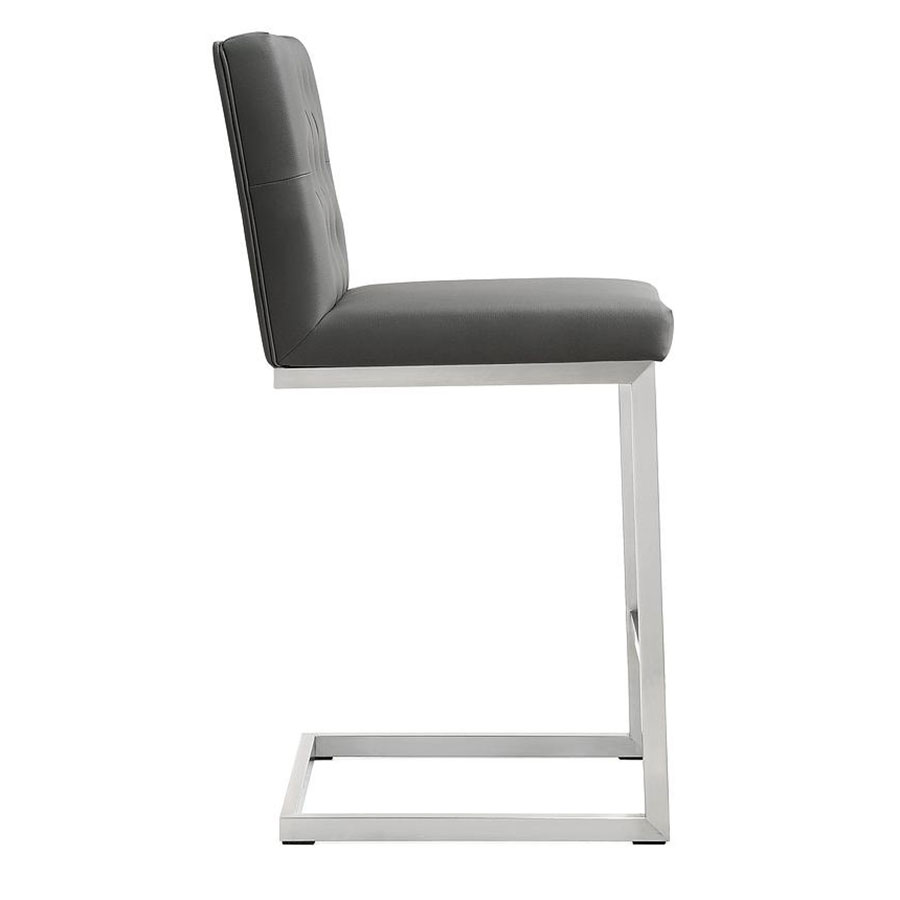 Hungary Modern Gray Counter Stool - Side View