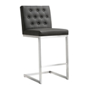 Hungary Modern Gray Counter Height Stool
