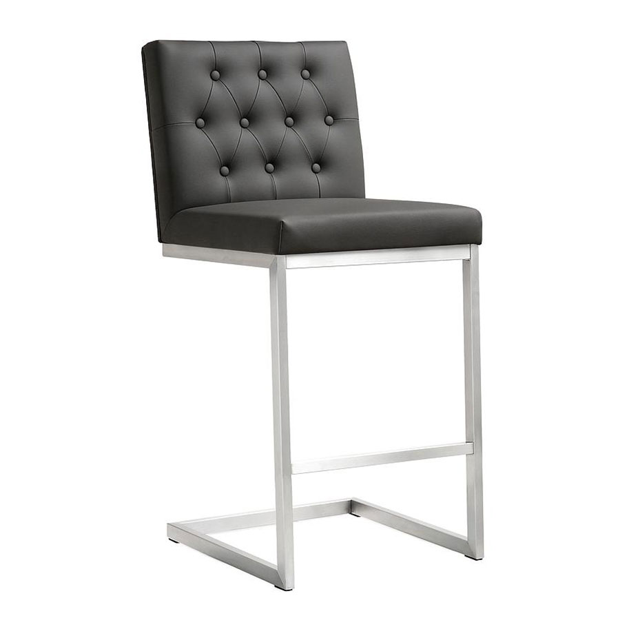 Modern Stools Hungary Gray Counter Stool Eurway