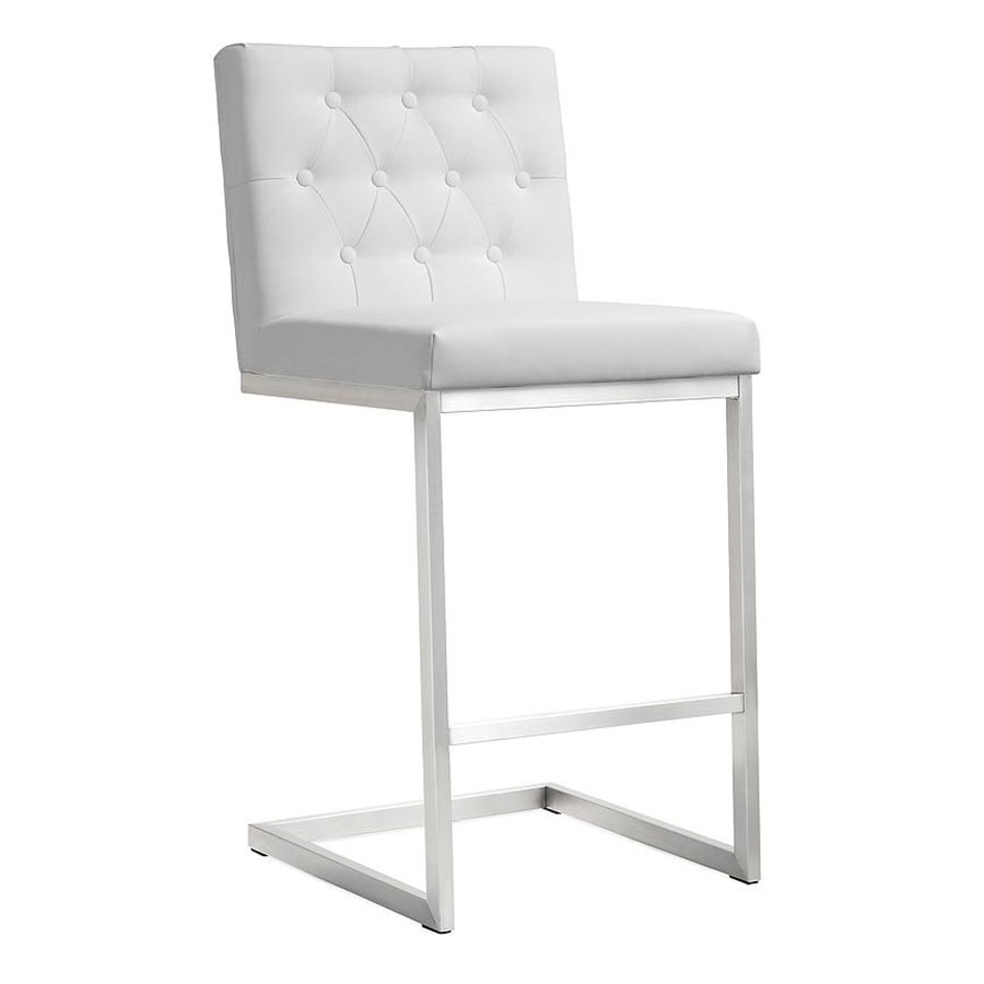 Hungary Modern White Counter Height Stool