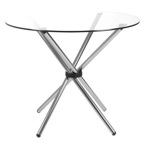 Contemporary Dining Tables - Hylda Glass Dining Table