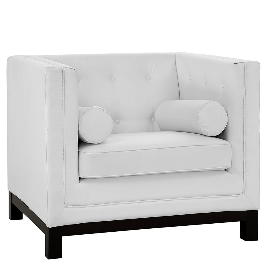 ibiza modern white lounge chair  eurway furniture - ibiza white modern lounge chair