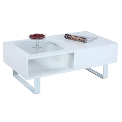 Iceland Modern White Storage Coffee Table