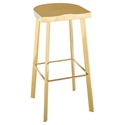 Nuevo Icon Modern Bar Stool in Polished Gold