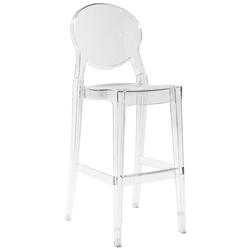Euro Style Igloo Contemporary Transparent Bar Stool