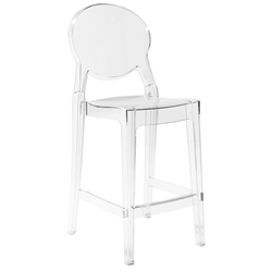 Euro Style Igloo Contemporary Transparent Counter Stool