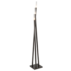Ilanna Modern Floor Lamp in Antique Finish - Lighted