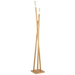 Ilanna Modern Floor Lamp in Gold Finish - Lighted