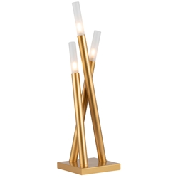 Ilanna Modern Gold Table Lamp - Lighted