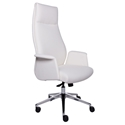 Indy White Modern High Back Office Chair