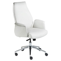 Indy White Modern Low Back Office Chair