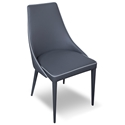 Impero Anthracite Modern Dining Side Chair by Pezzan