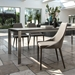 Impero Modern Taupe Upholstered Dining Chair by Pezzan
