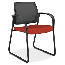 Impulse Modern Guest Chair in Poppy and Black
