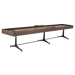 Smoked Oak Rustic Industrial Style Shuffleboard Table by Nuevo