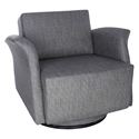 Ines Modern Dark Gray Swivel Lounge Chair