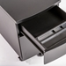 Indio Modern Black Metal Filing Cabinet - Pencil Drawer