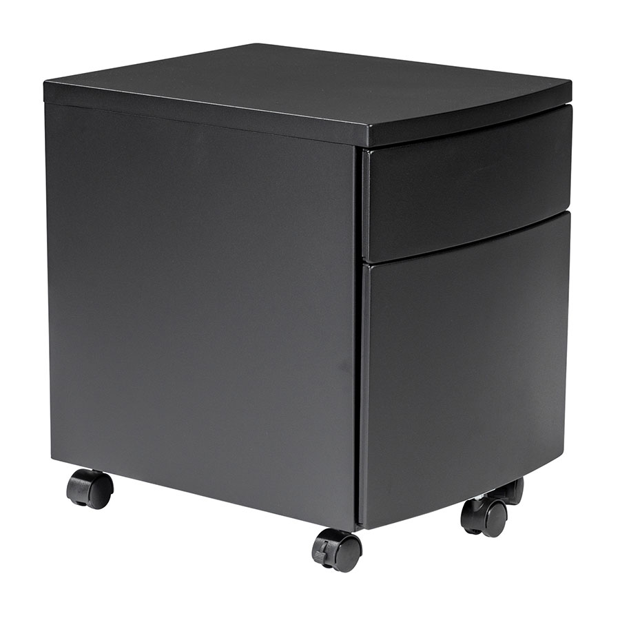 Ingo Modern Black Metal Mobile File Cabinet