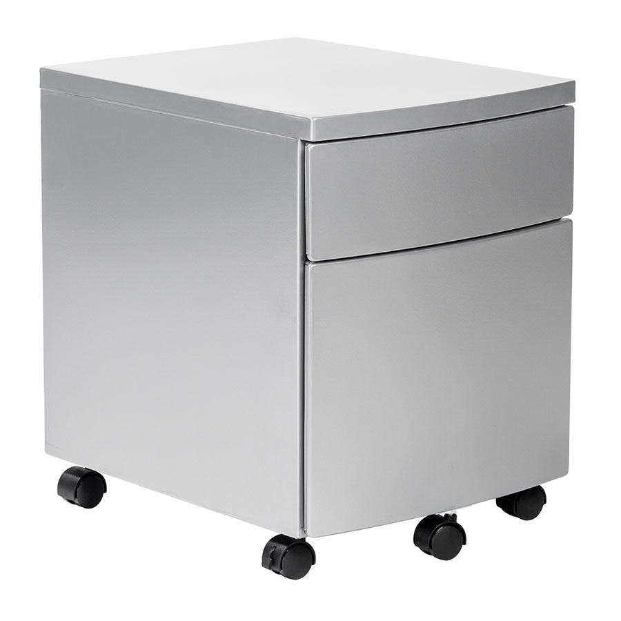 Call To Order Indio Modern Silver Metal Mobile File Cabinet