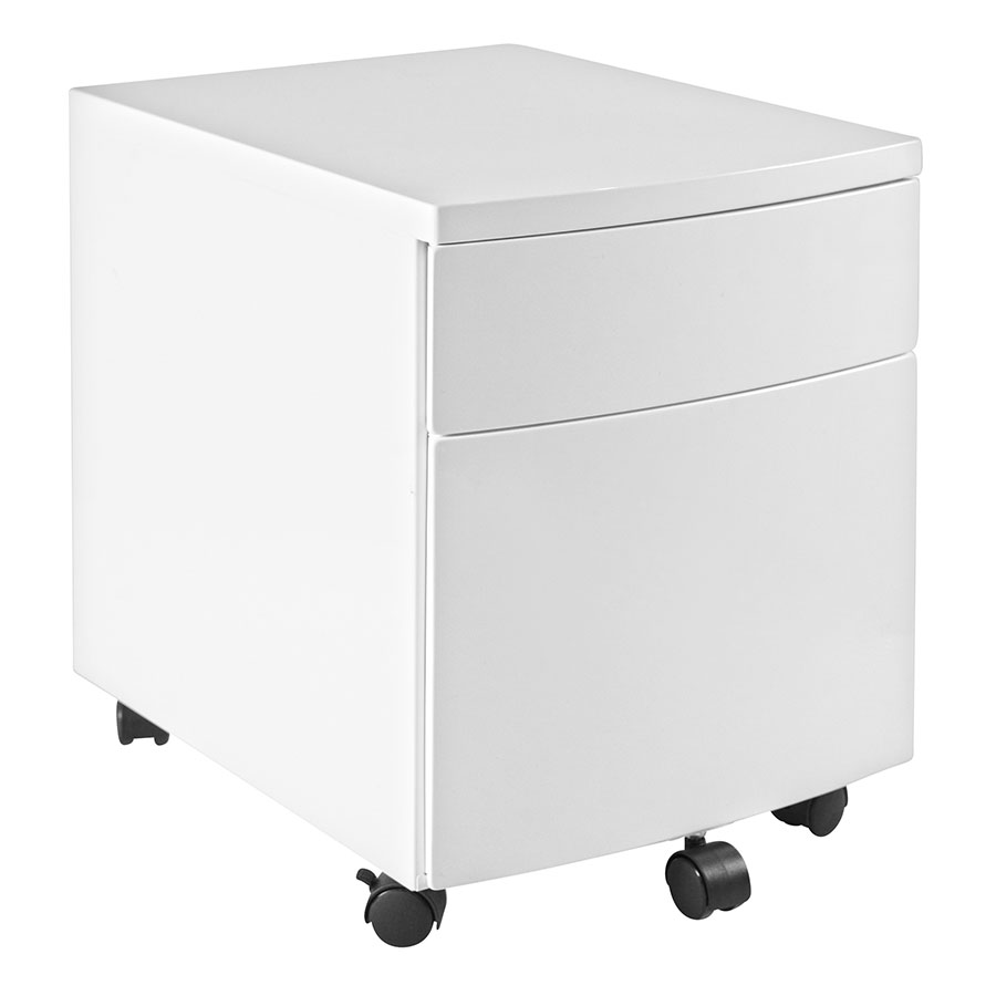 ingo modern white filing cabinet by euro style eurway. Black Bedroom Furniture Sets. Home Design Ideas