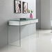 Insatiable Clear Glass + White Contemporary Console Table