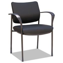 Inverness Modern Leatherette Stacking Guest Chair