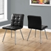 Iowa Black Contemporary Dining Chairs
