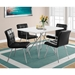 Iowa Modern Black Leather-Look Dining Chairs
