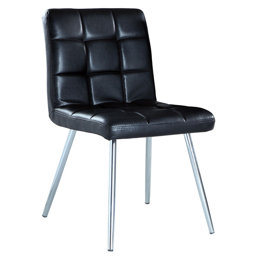Iowa Black Modern Dining Chair