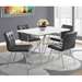 Iowa Modern Gray Leather-Look Dining Chairs