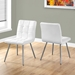 Iowa White Contemporary Dining Chairs
