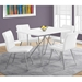 Iowa Modern White Leather-Look Dining Chairs