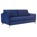 Iris Modern Sleeper Sofa in Navy Blue by Pezzan