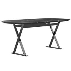 Modloft Irving Black Marble Modern Dining Table