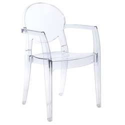 Irwin Clear Modern Arm Chair