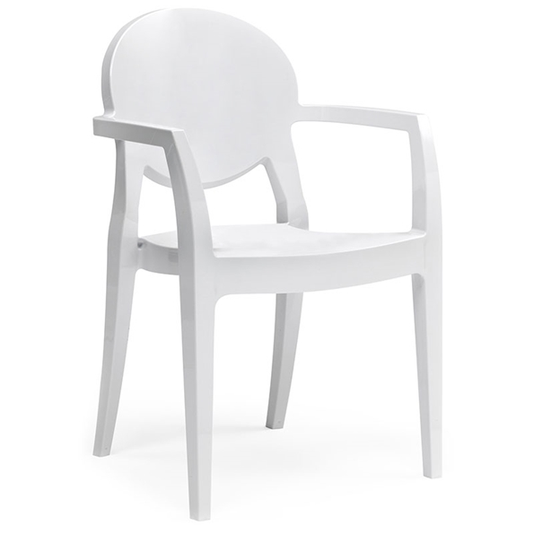 Irwin White Modern Arm Chair
