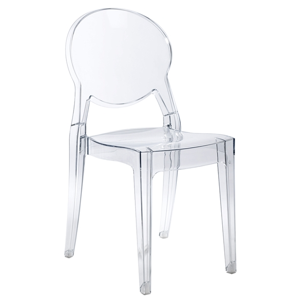 Igloo Contemporary Transparent Side Chair