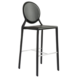 Isabella Modern Black Bar Stool by Euro Style