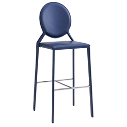 Isabella Modern Blue Bar Stool by Euro Style
