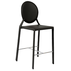 Isabella Modern Black Counter Stool by Euro Style