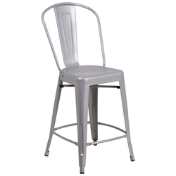 Isabella Silver Bistro Counter Stool