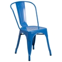 Isabella Modern Bistro Chair in Blue