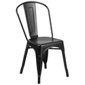 Isabella Modern Bistro Chair in Matte Black