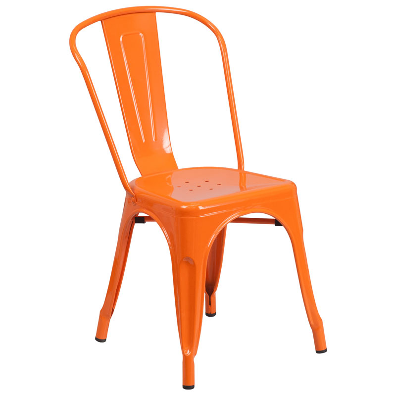 Isabella Modern Bistro Chair in Orange